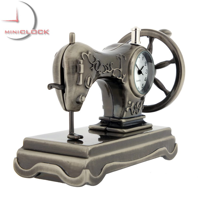 SEWING MACHINE MINIATURE VINTAGE SINGER STYLE COLLECTIBLE MINI CLOCK Simple Mini Singer Sewing Machine Antique