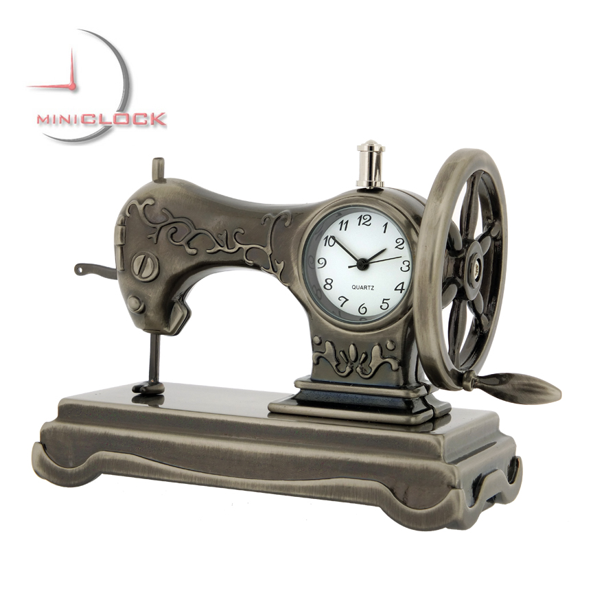 SEWING MACHINE MINIATURE VINTAGE SINGER STYLE COLLECTIBLE MINI CLOCK Simple Miniature Singer Sewing Machine