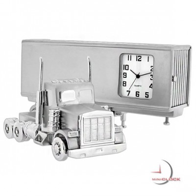 Miniature Clock, Collectible Tractor Trailer SEMI TRUCK