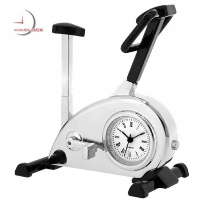 Mini Clock, Silver EXERCISE BIKE - Fitness Gym