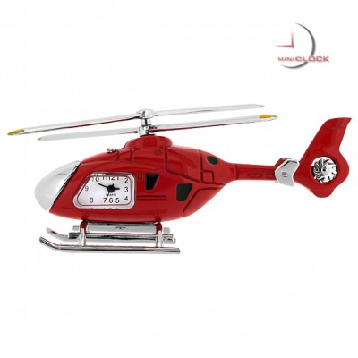 HELICOPTER MINIATURE EUROCOPTER 135-175 COLLECTIBLE AVIATION MINI CLOCK