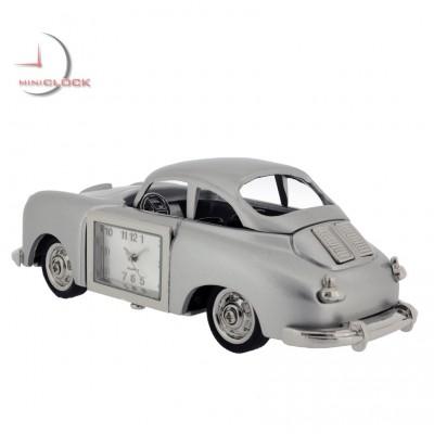 Mini Clock, Vintage BATHTUB PORSCHE CAR - Silver