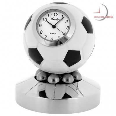 Miniature Clock, SOCCER/FOOTBALL TROPHY w/ Spinning Action