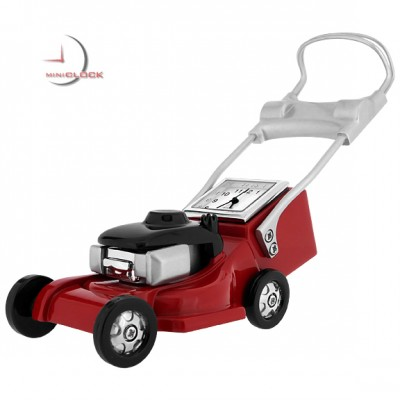 Miniature Clock, Collectible Red LAWN MOWER