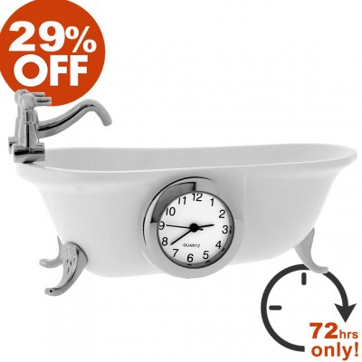 Clawfoot Bathtub Mini Clock Sale 29% Off!
