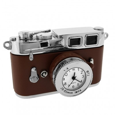 CAMERA 35MM MINIATURE VINTAGE STYLE PHOTOGRAPHY COLLECTIBLE MINI CLOCK