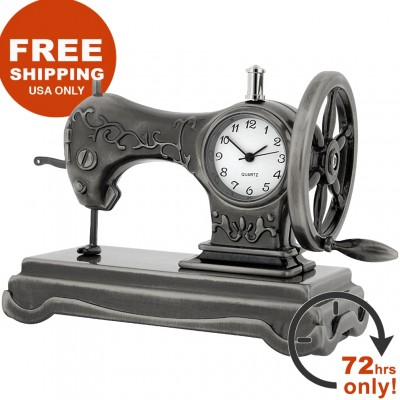 SEWING MACHINE DESK CLOCK FREE SHIPPING