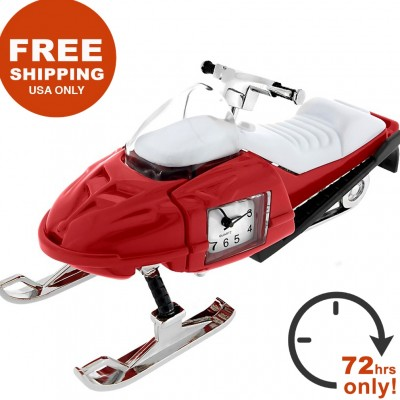 SNOW MOBILE CLOCK SALE