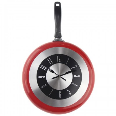 CLASSIC FRYING PAN WALL CLOCK KITCHEN RESTAURANT COOKING HOME DECOR IDEA