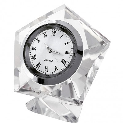 PENTAGON CRYSTAL DESK CLOCK MINICLOCK
