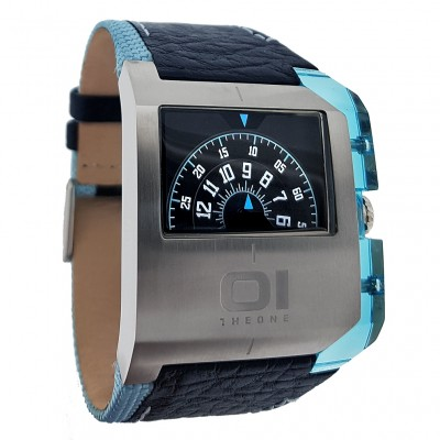 01 THE ONE EDGE WATCH JUMP HOUR ROTATING DISC HANDLESS DESIGNER WATCHES