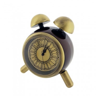 TWIN BELL MINIATURE VINTAGE STYLE MOCK ALARM COLLECTIBLE MINI CLOCK