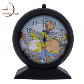 Homer Simpson Collectible Alarm Clock Black