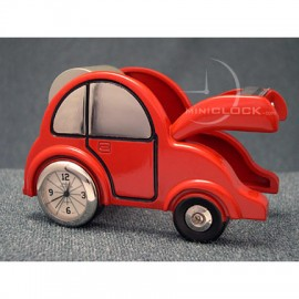 Mini Clocks, Red Car Tape Dispensor Miniature Clock