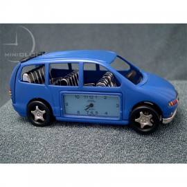 Miniature Clocks, Executive Blue 7 Seat Mini Van Cloc