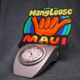 Mini Clock, Desktop Business Card Holder