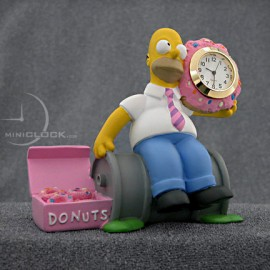 HOMER SIMPSON w/ Donut Collectible Mini Clock