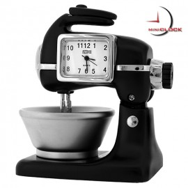 Deluxe Black Kitchen Mixer Miniclock