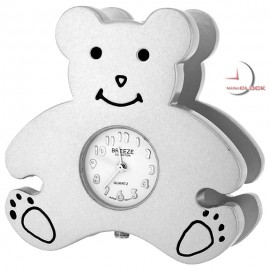 Mini Clocks Teddy Bear Business Card Holder Miniature Clock