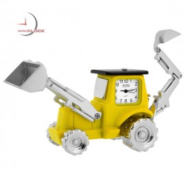 BACKHOE TRACTOR MINIATURE EXCAVATOR HEAVY EQUIPMENT COLLECTIBLE MINI CLOCK