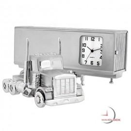 Miniature Clock, Collectible Tractor Trailer SEMI TRUCK