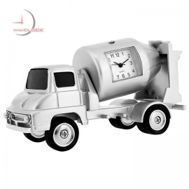 CEMENT MIXER TRUCK MINIATURE COLLECTIBLE DESKTOP MINI CLOCK