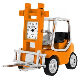 Miniature Clock, Collectible Orange FORKLIFT Truck