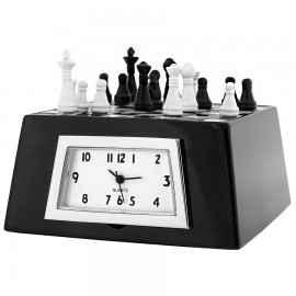 Mini Clock, Deluxe Collectible CHESS BOARD SET