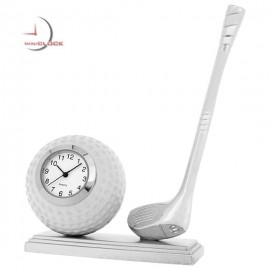 Mini Clock, Collectible GOLF BALL & CLUB w/ Pedestal