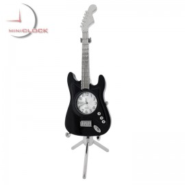 Miniature ELECTRIC GUITAR Collectible Desktop Clock