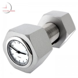 NUT & BOLT Memo Business Card Holder Mini Clock Collectible Gift