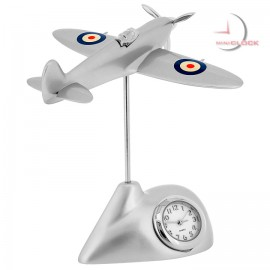 Mini Clock, British SPITFIRE Fighter Plane