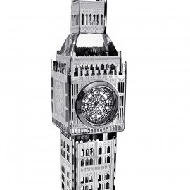 CRYSTAL BIG BEN MINIATURE LONDON UK LANDMARK TOWER BUILDING COLLECTIBLE TRAVEL DESKTOP MINI CLOCK