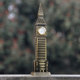 BIG BEN MINIATURE LONDON UK LANDMARK TOWER BUILDING COLLECTIBLE TRAVEL DESKTOP MINI CLOCK