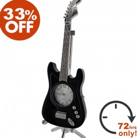 MINIATURE FENDER STRATOCASTER ELECTRIC GUITAR DESK CLOCK SALE