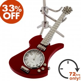 ELECTRIC GUITAR DESK CLOCK BC RICH MOCKINGBIRD SALE 33% OFF
