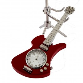 ELECTRIC GUITAR DESK CLOCK MOCKINGBIRD STYLE MUSIC INSTRUMENT TINY CLOCK