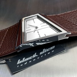 BLACK DICE HUSTLE WIDE STRAP ASYMMETRIC CUSTOM CASE & DIAL DESIGNER WATCH BD00302