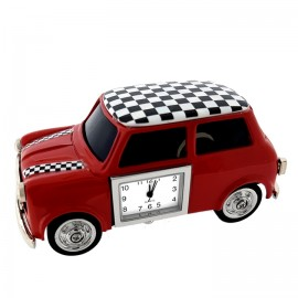 MINI COOPER CAR STYLE  MINIATURE CLOCK COLLECTIBLE DESKTOP GIFT