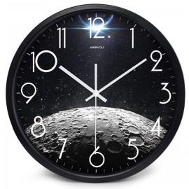 SPACE MOON MOONSCAPE WALL CLOCK DEN OFFICE BEDROOM HOME DECOR IDEA