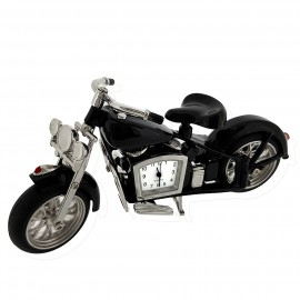 VINTAGE CLASSIC MOTORCYCLE MINI DESK CLOCK COLLECTIBLE GIFT