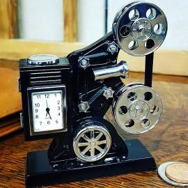 Antique MOVIE PROJECTOR Collectible Mini Clock - Keystone