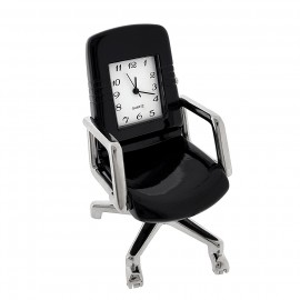 OFFICE CHAIR MINIATURE DESK SEAT WORKSPACE FURNITURE MINI CLOCK