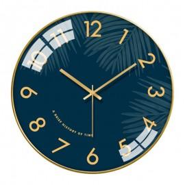 CLASSIC PALM FROND WALL CLOCK MODERN CONVEX LENS DEN OFFICE BEDROOM HOME DECOR IDEA