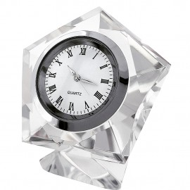 PENTAGON CRYSTAL DESK CLOCK MINICLOCK