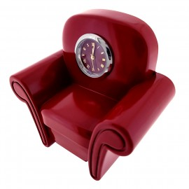 SOFA COUCH MINIATURE HOME & LEISURE FURNITURE COLLECTIBLE MINI CLOCK GIFT