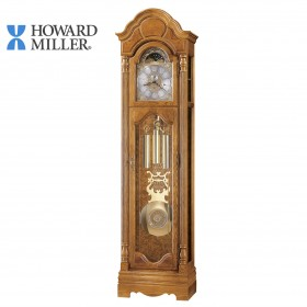 HOWARD MILLER CHIMING OAK GRANDFATHER CLOCK: BRONSON 611019