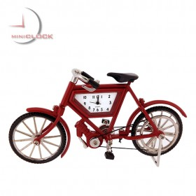 BRITISH MOTORIZED BIKE MINIATURE BICYCLE COLLECTIBLE MINI CLOCK