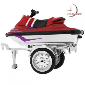 Mini Clock, Red JET SKI & Removable TRAILER