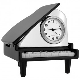 PIANO BABY GRAND MINIATURE COLLECTIBLE GIFT MUSIC DESKTOP CLOCK